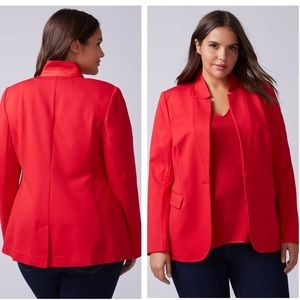 Lane Bryant red ponte stretch blazer size 28